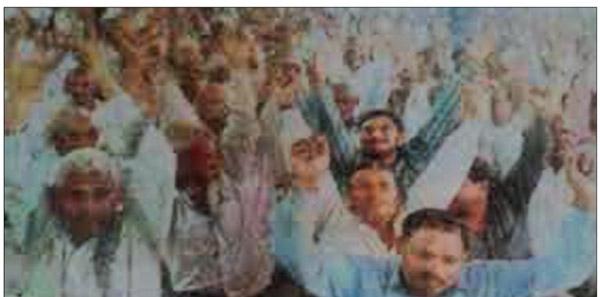 मनौली में सम्मेलन कर किसानों ने दी केंद्र और राज्य सरकार को चुनौती